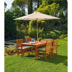 Buy Madison 4 Seater Dressed Patio Furniture Set - Brown at Argos.co.uk - Your Online Shop for Garden table and chair sets.