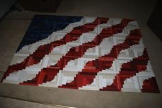 4th of July Log Cabin Quilt