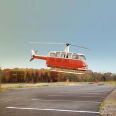 """VW chopper! """"Kombicóptero"""" mas é fotomontagem. Fica a dica..."""