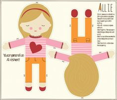 Allie Cut and Sew Doll