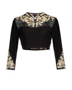Black Floral Zari Top - New Arrivals | SHOP NOW ON : http://bit.ly/NamrataJoshipura_shop