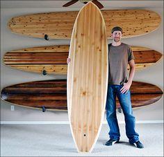 Reclaimed wood surfboards