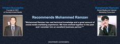 Vincent Bucciachio Founder & CEO at SociallyInfused Media Recommends Muhammad Ramzan Social Media & Internet Marketing Consultant.