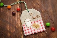 Christmas gift tag for Santa | Minki's Work Table
