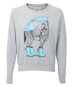 Grey (Grey) Brat and Suzie Grey Donkey Print Sweater  | 271174804 | New Look