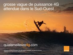 Grosse vague de puissance 4G attendue dans le Sud-Ouest #4GOrange quialameilleure4g.com Orange France, Rugby, Ads, French, My Love, Movie Posters, The South, Posters, Technology