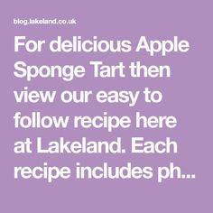 For delicious Apple Sponge Tart then view our easy to follow recipe here at Lakeland. Each recipe includes photos & full instructions. Spicy Lentil Soup, Lentil Soup Recipes, Curry Laksa, Prawn Curry, Mixed Berry Sorbet, Chilli Con Carne Recipe, Madeleine Recipe, Layer Cake Recipes, Beef Bourguignon