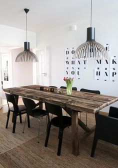 dining /// pendants from Secto Design