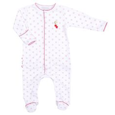 Magnolia Baby Strawberry Fields Embroidered Ruffle Footie