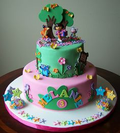 Dora the Explorer Cake by cakespace - Beth (Chantilly Cake Designs), via Flickr