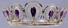 The Mystery Amethyst Tiara of Queen Alexandra, Princess of Denmark and Queen of Great Britain, wife of Edward VII (1901-1910.