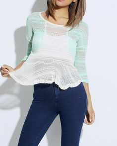 SKU: AT-11-GRN/IVORY-potters_potMint Green/Ivory Sheer Sweater