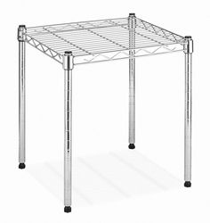Whitmor 6054-584 Supreme Small Stacking Shelf, Chrome, Free Shipping, New