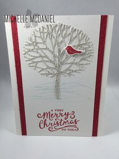 Thoughtful Branches Bundle; Christmas Card; Stampin' Up!