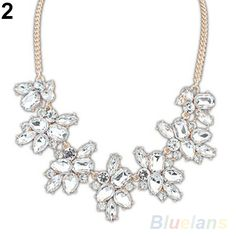Hot Fashion Party Bright Drop Resin Flower  Choker Bib Crystal  Statement Necklace 1DG4-in Choker Necklaces from Jewelry on Aliexpress.com | Alibaba Group