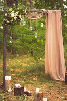 Romantic Meets Rustic Backyard Wedding | Cozy blankets, Backyard ...