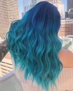 41 Bold and Beautiful Blue Ombre Hair Color Ideas | Page 3 of 4 | StayGlam : 41 Bold and Beautiful Blue Ombre Hair Color Ideas | Page 3 of 4 | StayGlam #Bold #Beautiful #Blue Cute Hair Colors, Pretty Hair Color, Beautiful Hair Color, Hair Dye Colors, Unique Hair Color, Hair Color Ideas, Creative Hair Color, Different Hair Colors, Blue Ombre Hair
