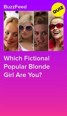 Which Fictional Popular Blonde Girl Are You? Buzzfeed Quiz Funny, Buzzfeed Quizzes Love, Buzzfeed Test, Buzzfeed Personality Quiz, Fun Personality Quizzes, Regina George, Cher Horowitz, Celebrity Boyfriend Quiz, Disney Channel Quizzes