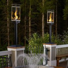 These are the only torches i like for my backyard now if only travis industries tempest torch gas lamps and lanterns aloadofball Choice Image