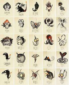 Tim Burton Inspired Pokemon by Vaughn Pinpin Tim Burton Pokemon, Pokemon Go, Scary Pokemon, Pokemon Super, Pikachu, Illustration Arte, Illustrations, Tim Burton Style, Tim Burton Drawings Style