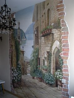 Wallpaper Art Painting Dining Rooms 64 Ideas For 2019 Old Wallpaper, Trendy Wallpaper, Photo Wallpaper, European Style Homes, Hand Painted Walls, Bedroom Murals, Mural Wall Art, Wall Decor, Painting Art
