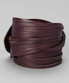 Take a look at this Purple Sliced Bracelet by Linea Pelle on #zulily today!