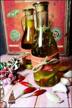 Azeite picante de alho com alecrim ♥♥♥ - http://gostinhos.com/azeite-picante-de-alho-com-alecrim-%e2%99%a5%e2%99%a5%e2%99%a5/