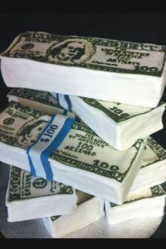 Money Cake. Designed by kick ass kakes of Phoenix AZ