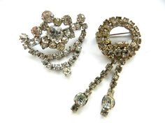 Lovely duo of sparkling beauties Diamantè dangle by RAKcreations