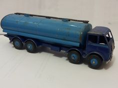 Dinky #504 Foden type 1  tanker, two-tone blue,  blue flash