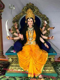 Krishna Hindu, Shiva Shakti, Hindu Deities, Maa Durga Photo, Maa Durga Image, Ganesh Lord, Ganesha, Happy Navratri Images, Navratri Puja