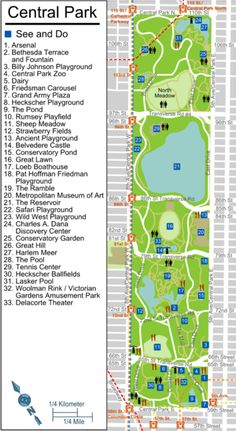 central park ny map of attractions