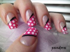 minnie mouse pink and white polka dot nail polish: What nail polish are you wearing? - PurseForum