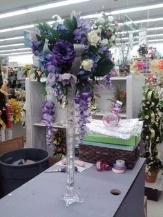 Purple Center Pieces A.C. Moore Crafts