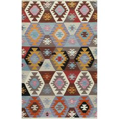 Tribal Elegance Hand-woven Multi-colored Abstract Rug (8' x 10') - Overstock Shopping - Great Deals on Momeni 7x9 - 10x14 Rugs