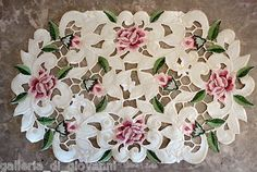 Royal Rose Lace Placemat Runner Doily Flower Floral | eBay