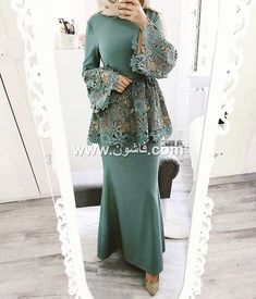 Hijab outfit for occasions Kebaya Muslim, Kebaya Hijab, Kebaya Dress, Muslim Dress, Islamic Fashion, Muslim Fashion, Modest Fashion, Fashion Dresses, Formal Fashion