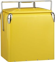MUST HAVE THIS for an upcoming summer adventures/picnics :: Yellow Picnic Cooler in Beach, Picnic | Crate and Barrel