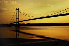 The Humber Bridge, Hull Yorkshire Towns, Hull England, Kingston Upon Hull, Travelogue, Golden Gate Bridge, Britain, United Kingdom, Travel Destinations, United States