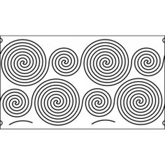 13 inch spiral quilting template quilt ez long arm 13 inch continious spiral quilting template quilt ez pronofoot35fo Images