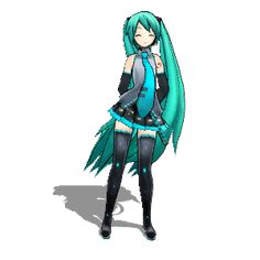 Just sway to the music with Miku! #gif