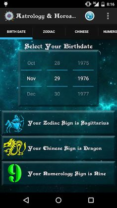 This app contains all the features to make it a complete Astrology and Horoscope app.<p>Select your Birth date and it automatically captures your Zodiac Sign, Chinese Zodiac sign and Numerology sign<br>based on the algorithm and code developed by our extremely skilled coders.<p>The Horoscope description is based on our panel of extremely skilled Astrologers.<p>1) Zodiac Reading<br>Get your horoscope based on your zodiac sign.<br>Zodiac reading for 12 Zodiac signs.<p>2) Chinese…