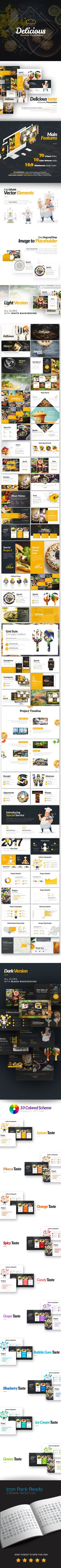 Delicious Keynote Presentation Template - #Keynote Templates #Presentation Templates Download here: https://graphicriver.net/item/delicious-keynote-presentation-template/19679093?ref=alena994