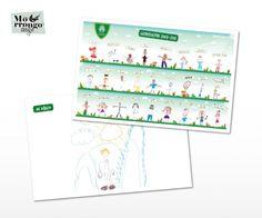 """Individuales """"Colegio El Roble"""" : Papel Ilustración 150 + Plastificado (enmicado)  Regalo para los niños en el fin del ciclo lectivo del jardín.  ® MORRONGO DESIGN 2011. All rights reserved Oak Tree, Gift, Meet, Paper Envelopes"""