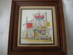 Nurse Collector Hand Watercolor Print / Framed / by DustyAtticGems, $26.00