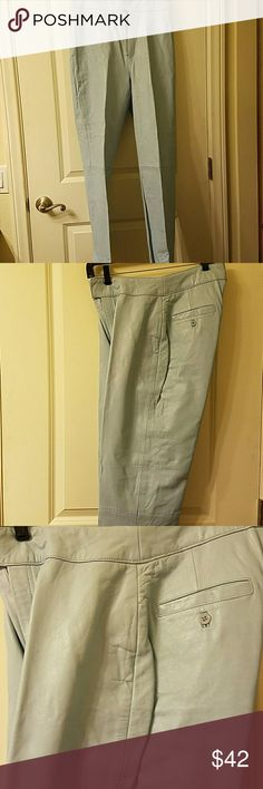Garson Leather Pants Garson leathet pants like new. 2 pockets in back.These are tailored pants. Color powder blue. Like new. Fem Garson Pants Trousers