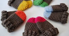 Keep tiny fingers warm and cozy in a pair of Two Tone Baby Mittens. Crochet a pair of these thumbless mitts for baby in less than...