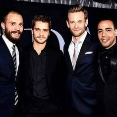 Jamie dornan and the co-stars fifty shades darker premiere Christian, Elliot, Jack, José Fifty Shades Cast, 50 Shades Trilogy, Fifty Shades Series, Fifty Shades Movie, 50 Shades Freed, Fifty Shades Darker, Fifty Shades Of Grey, Jamie Dornan, Eric Johnson