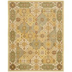 @Overstock - An intricate Oriental design highlights this handmade Bakhtiari wool rug. This area rug features a multi-colored background, ivory border and stunning panel colors of blue, gold, grey, ivory and red.http://www.overstock.com/Home-Garden/Handmade-Heritage-Bakhtiari-Multi-Ivory-Wool-Rug-83-x-11/5290948/product.html?CID=214117 $409.99