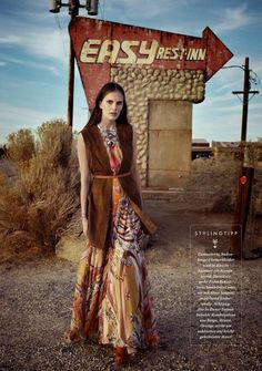 """""""West Coast"""" Alla Kostromichova for ELLE Germany May 2015"""
